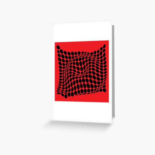 COME INSIDE (RED/BLACK) Tarjetas de felicitación