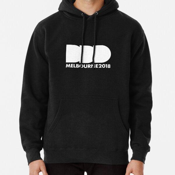DDD Melbourne - White Logo Pullover Hoodie