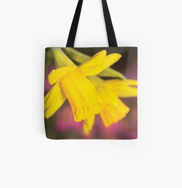 Narcissus Flowers All Over Print Tote Bag
