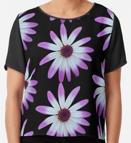 wunderschöne, violette Blüte, Blume, Sommer, Natur Chiffontop für Frauen