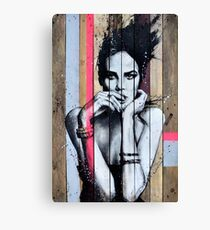 ADDICTED TO YOU - Graffiti Streetart - Woman Portrait Canvas Print