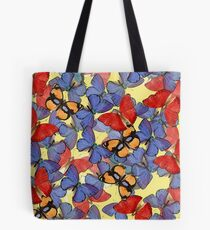 Composition With Echoed Butterflies #2 Tote Bag