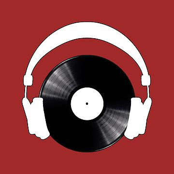 Vinyl w / headphones by mpadesigns