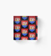 French France Coat of Arms 14088 Blason ville fr Morlaix Finistère v  Bloc acrylique
