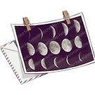 Moon postcard sticker by Helenamischenko