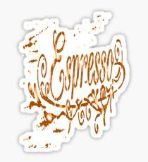 Espresso Coffee Artistic Typography Vector Sticker