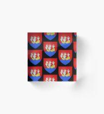 French France Coat of Arms 14089 Blason ville fr Morlaix Finistère Bloc acrylique
