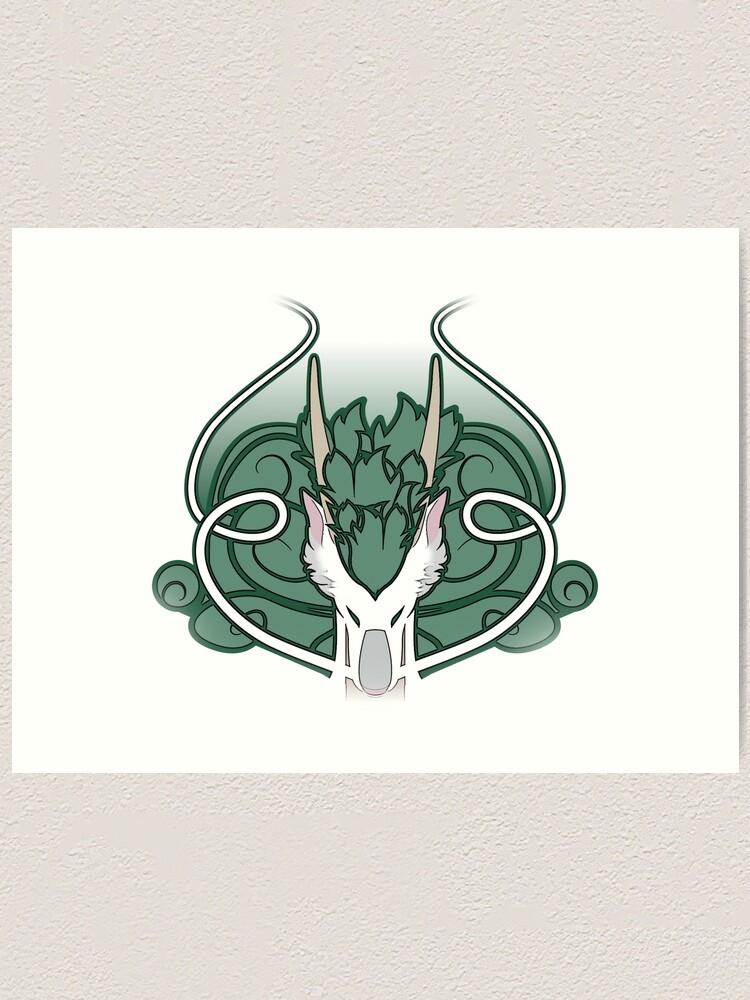Spirited Away Haku Dragon Stylized Head Art Print By Aekaitz Redbubble