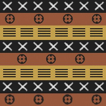 African mudcloth black and brown by hellcom