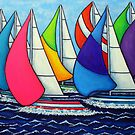 Rainbow Racing Reagatta by LisaLorenz