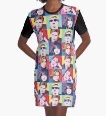 DER BREAKFEST CLUB POP ART T-Shirt Kleid