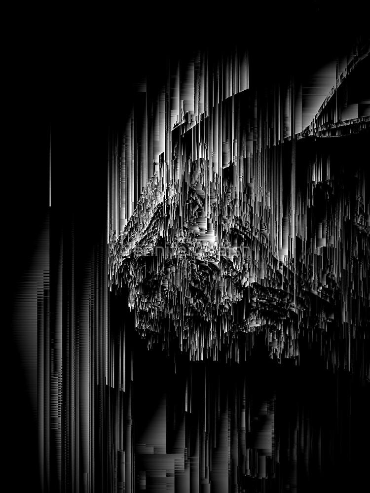Night of the Glitches - Abstract Pixel Art by InsertTitleHere