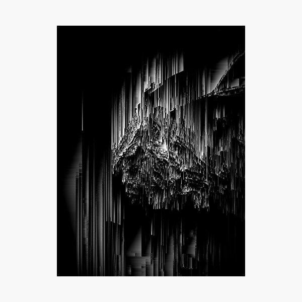 Night of the Glitches - Abstract Pixel Art Photographic Print