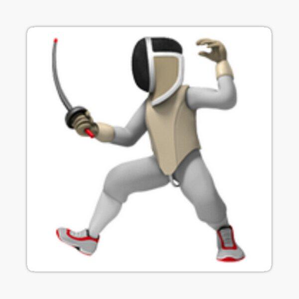 Fencing Emoji Sticker Sticker