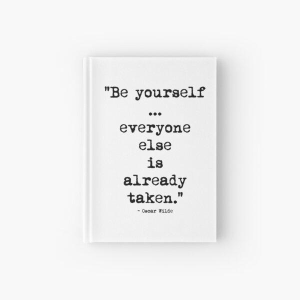 Oscar Wilde Be Yourself Hardcover Journal
