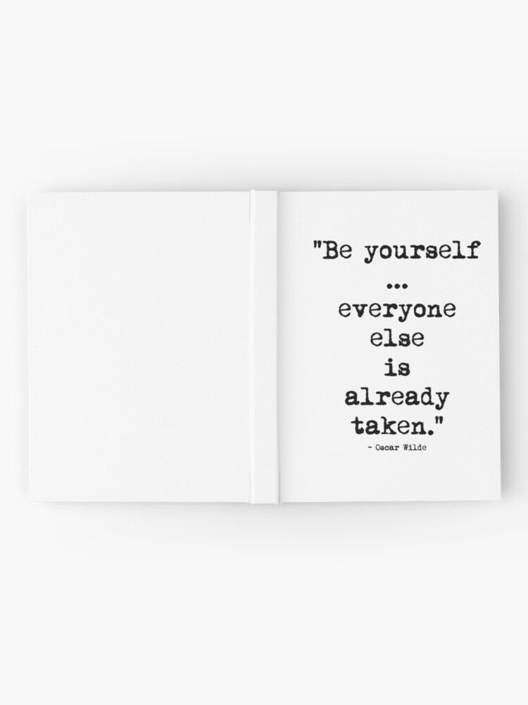 Alternate view of Oscar Wilde Be Yourself Hardcover Journal