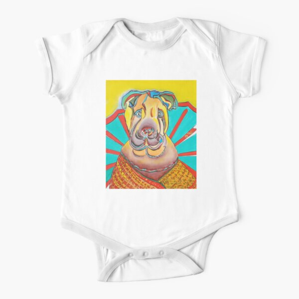 Beach Dog Short Sleeve Baby One-Piece