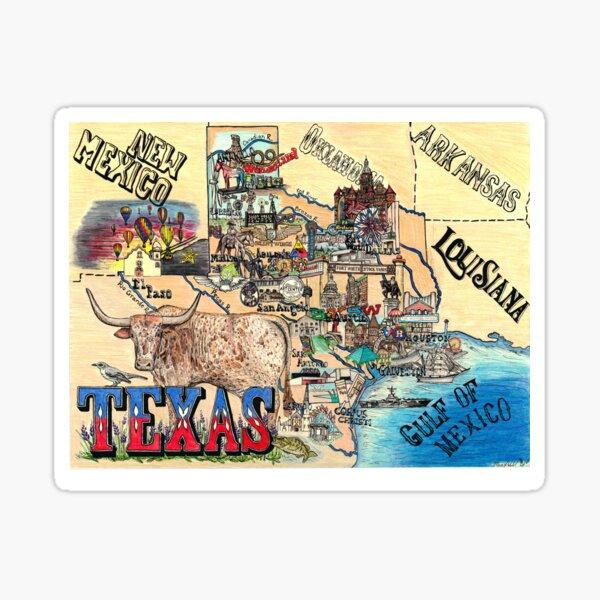 Map of Texas Sticker