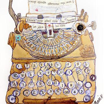 Typewriter by JacquesArt