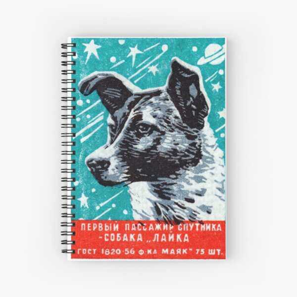 1957 Laika the Space Dog Spiral Notebook