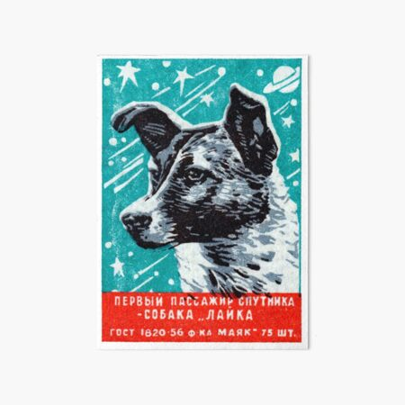 1957 Laika the Space Dog Art Board Print
