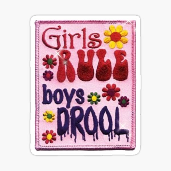 Girls Rule Boys Drool Sticker