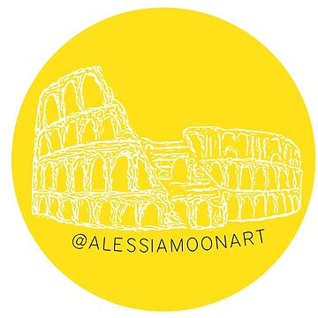 MONUMENT STICKER (BIANCO/GIALLO) by AlessiaMoon