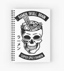 Ramen Skull Brain  Spiral Notebook