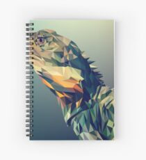 Cuaderno de espiral dibujo digital iguana