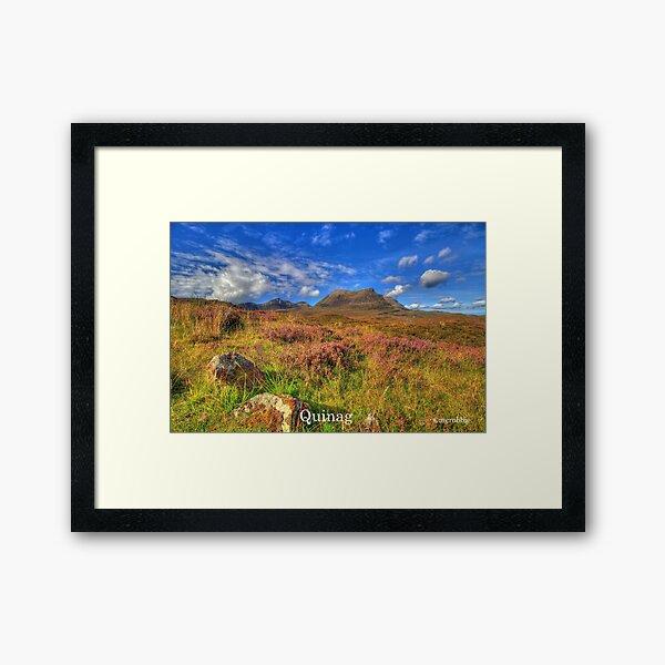 Quinag Sutherland Framed Art Print