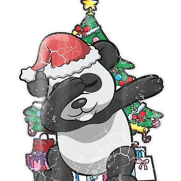 Dabbing Panda Christmas Tree by frittata