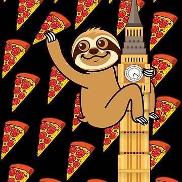 Cute Sloth London Pizza by plushism