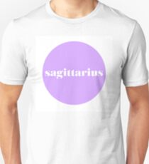 Sagittarius Horoscope Minimalist Typography  Unisex T-Shirt