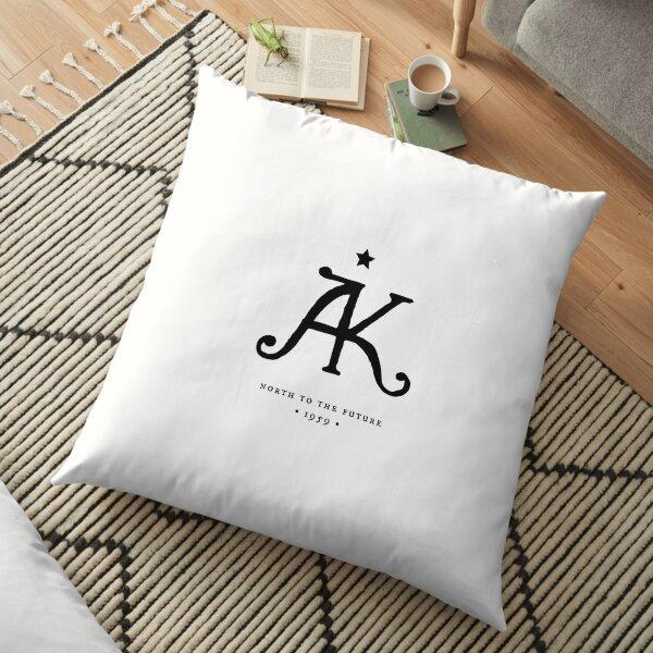 Alaska State Monogram Printers Mark Floor Pillow
