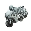80's Plastic Toy Motorbike Sketch by koreanrooftop