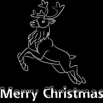Merry Christmas Merry Christmas reindeer by Kampfkeiler