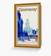 Vintage retro Berlin Germany travel ad Greeting Card