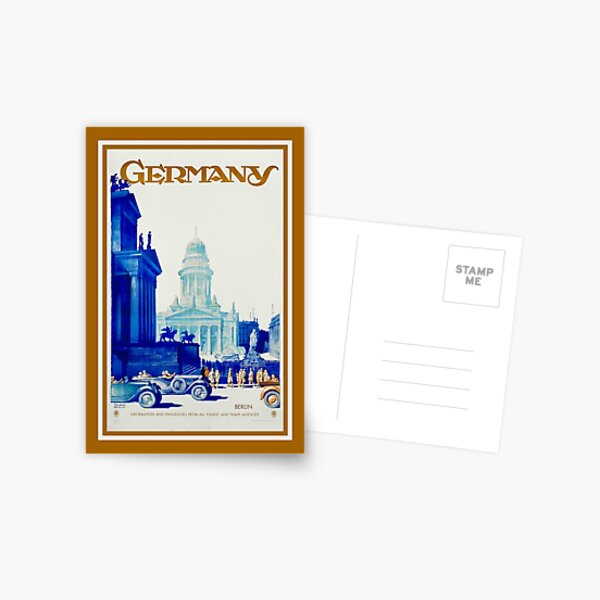 Vintage retro Berlin Germany travel ad Postcard