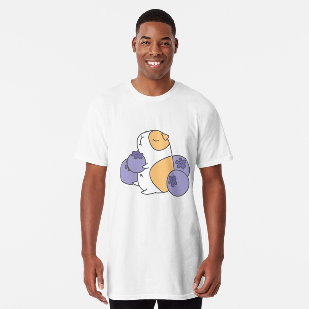Guinea pig and blueberry  Long T-Shirt