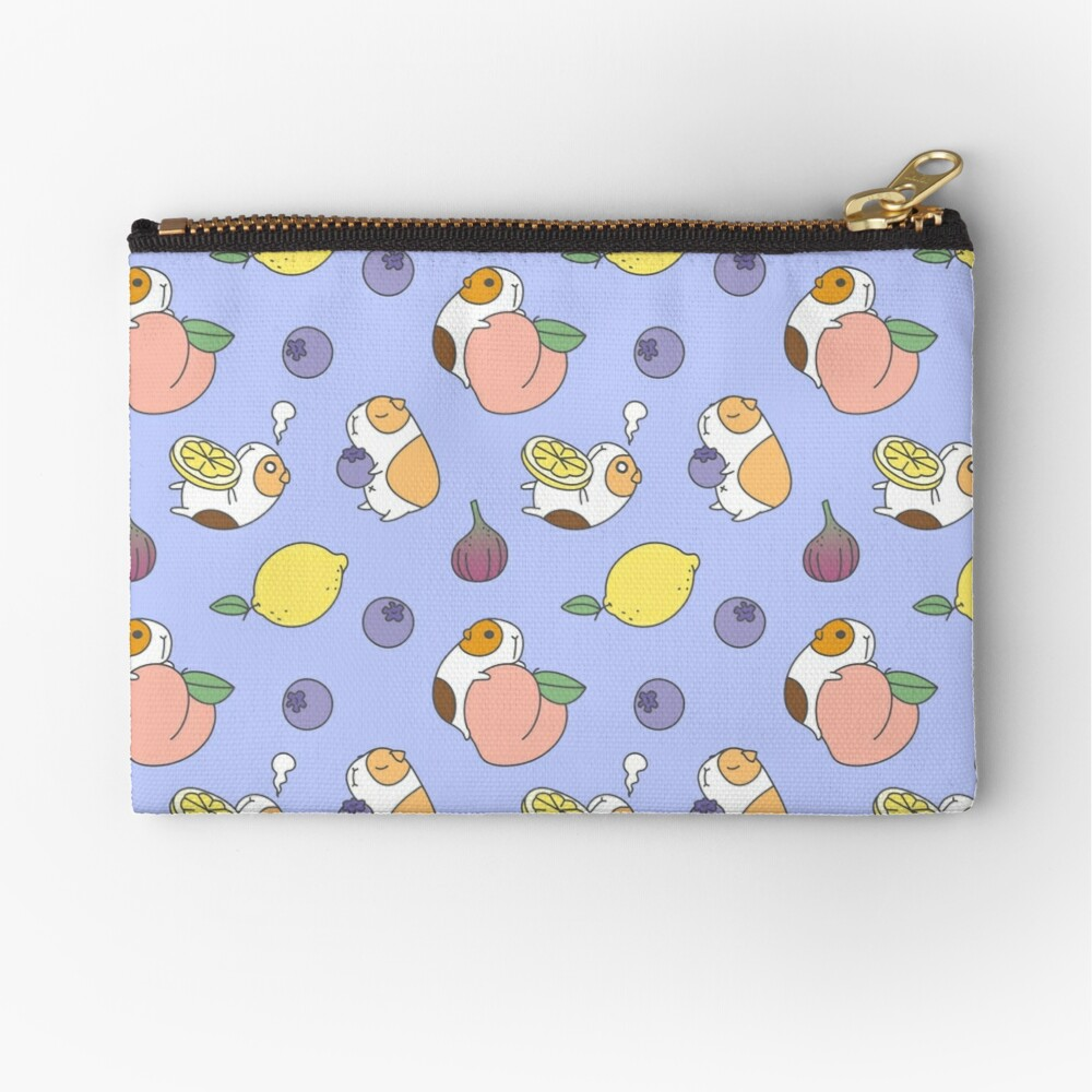 Guinea pig and blueberry  Zipper Pouch