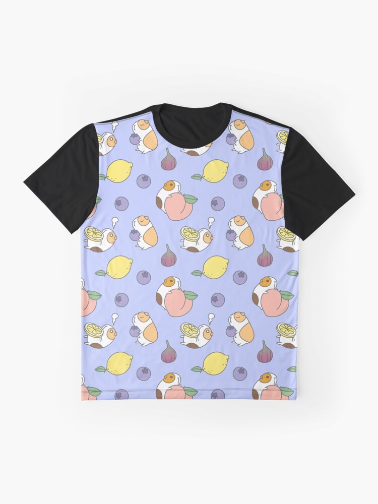 Alternate view of Guinea pig and blueberry  Graphic T-Shirt