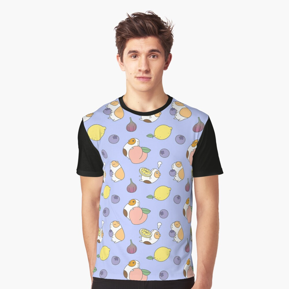 Guinea pig and blueberry  Graphic T-Shirt