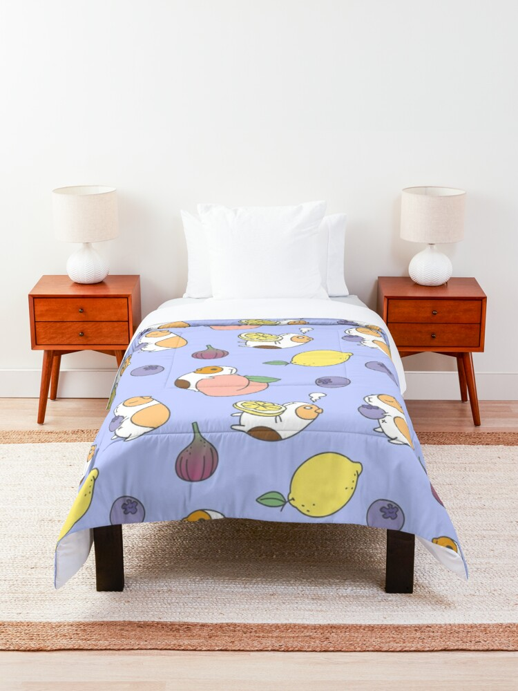 Alternate view of Guinea pig and blueberry  Comforter