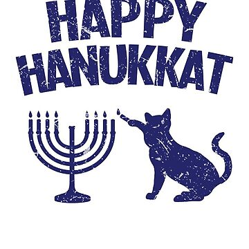 Happy Hanukkat Cat Lighting Menorah by theredteacup