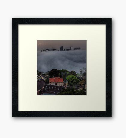 Blanket Morning - Moods Of A City  Framed Print