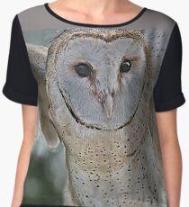 Barn Owl spread Chiffon Top