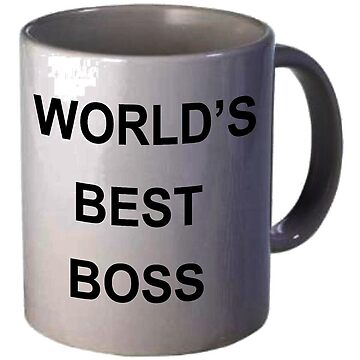 WORLD'S BEST BOSS DUNDER MIFFLIN THE OFFICE MICHAEL SCOTT MUG STICKER by KOTTNKANDY