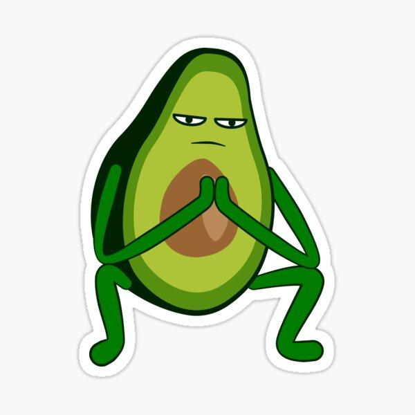 Avocado Rap Squat Sticker