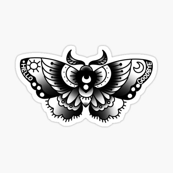 ouija moth Sticker