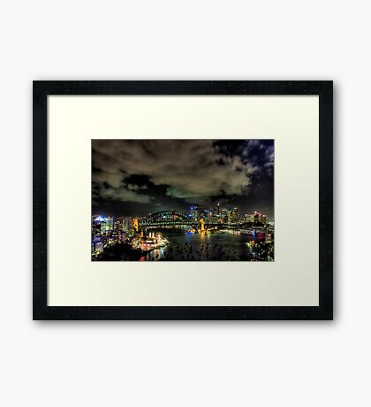 City Lights - Moods Of A City - The HDR Experience Framed Print